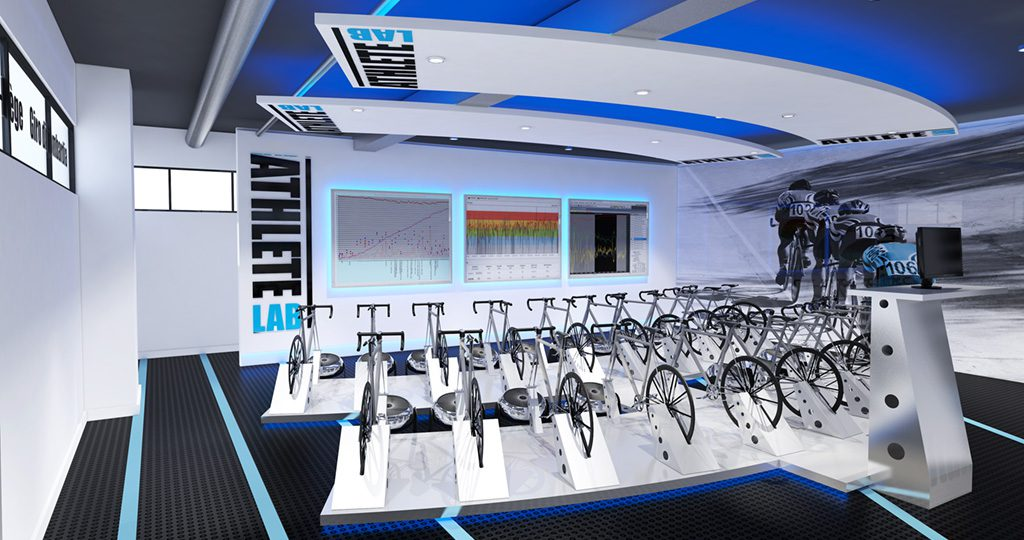 indoor cycling studio architecture