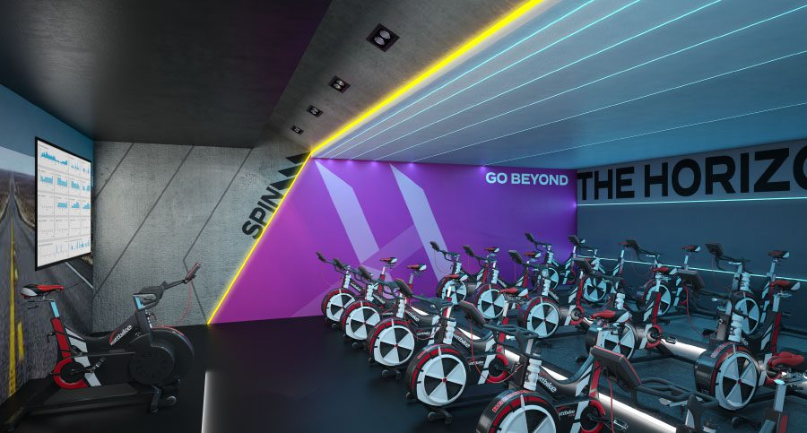 Gym, Fitness Centre & Health Club Spinning Studio Interior Designers & Architects