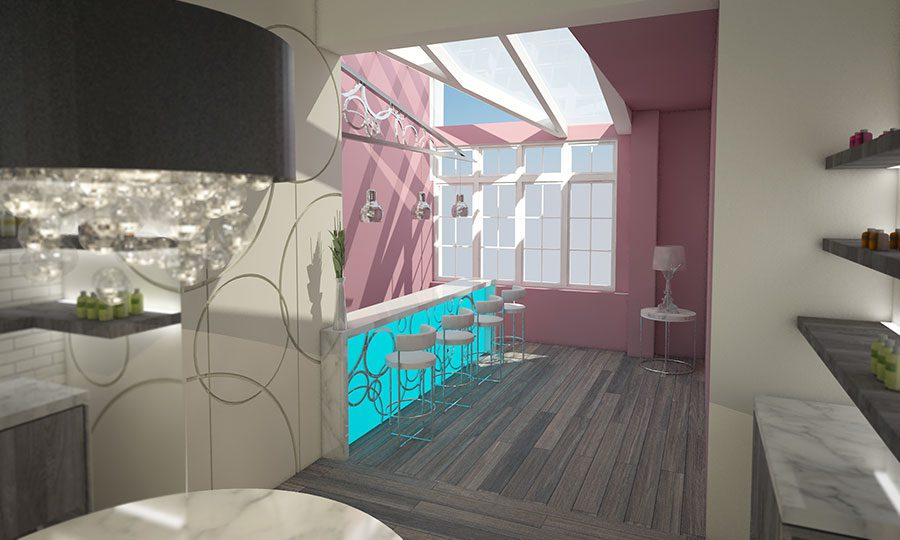 Aquabiking studio interior designers