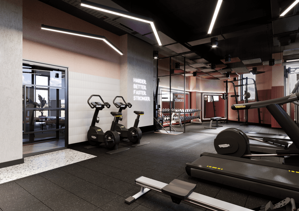 Student gym design for CA Ventures