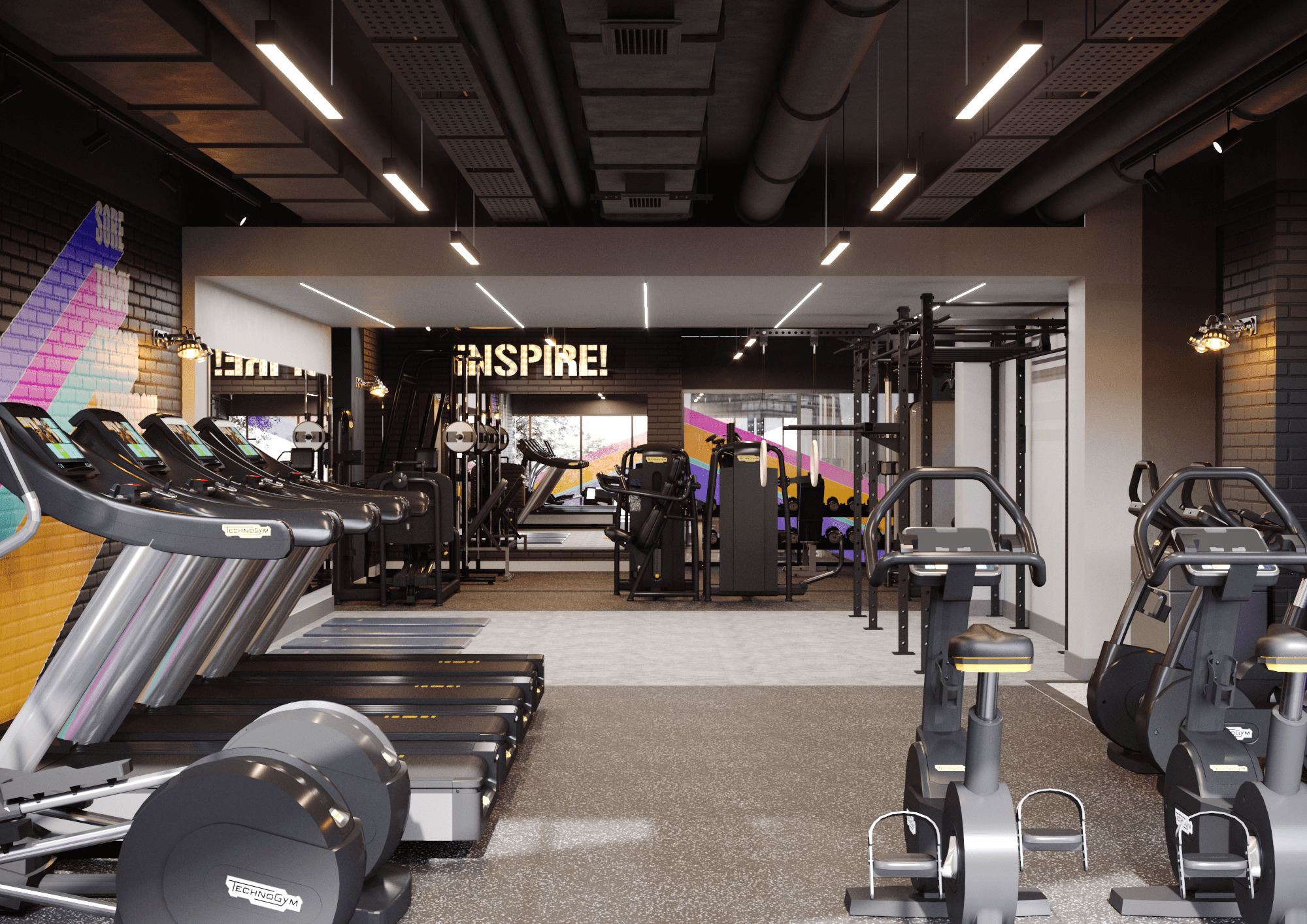 Designs for student housing gym by zynk Design